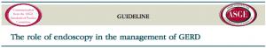 Diretriz - Papel da endoscopia no manejo da DRGE