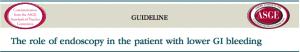 Papel da endoscopia no paciente com sangramento gastrointestinal baixo